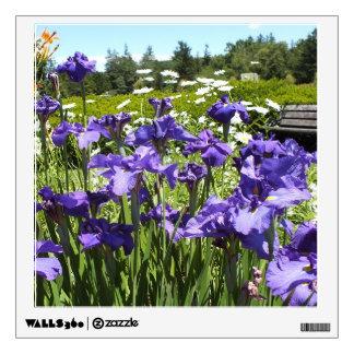 Purple Irises Garden Wall Decal