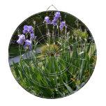 Purple Irises in Gainesville Park Dart Boards