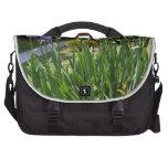 Purple Irises in Gainesville Park Laptop Commuter Bag