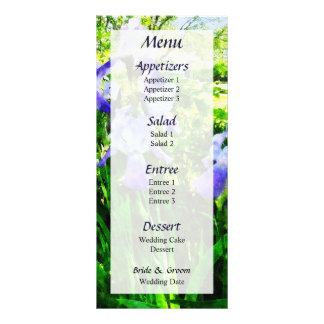 Purple Irises in Suburbs Wedding Menu