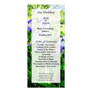 Purple Irises in Suburbs Wedding Program