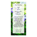 Purple Irises in Suburbs Wedding Program Personalized Rack Card