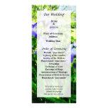 Purple Irises in Suburbs Wedding Program Rack Card