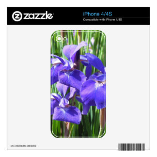 Purple Irises iPhone 4 Skin