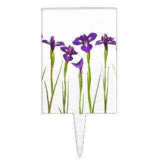 Purple Irises - Iris Flower Customized Template Cake Topper
