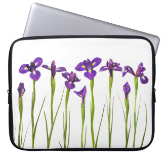 Purple Irises - Iris Flower Customized Template Computer Sleeve