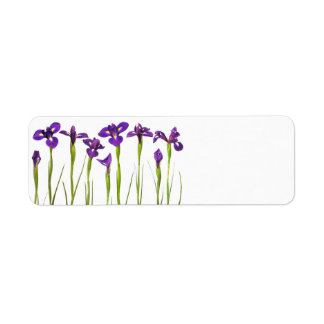 Purple Irises - Iris Flower Customized Template Label