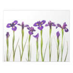 Purple Irises - Iris Flower Customized Template Memo Pad