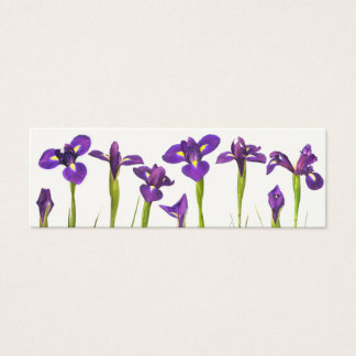 Purple Irises - Iris Flower Customized Template Mini Business Card