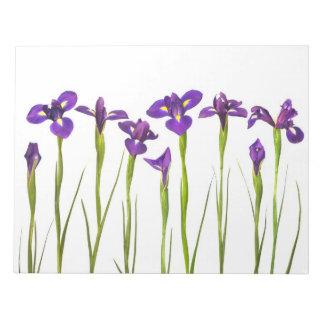 Purple Irises - Iris Flower Customized Template Note Pad