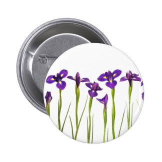 Purple Irises - Iris Flower Customized Template Pinback Button