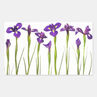 Purple Irises - Iris Flower Customized Template Rectangular Sticker