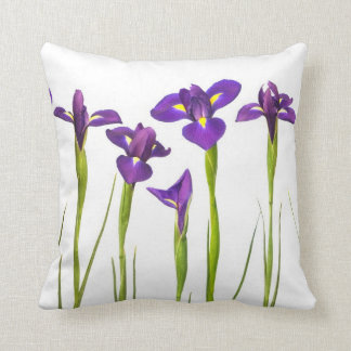 Purple iris flower pillows decorative throw pillows zazzle purple irises iris flower customized template throw pillow pronofoot35fo Image collections
