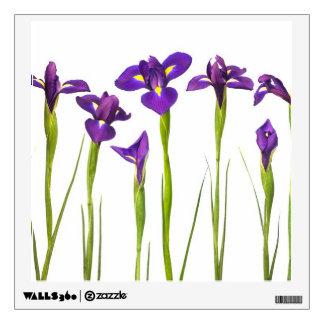 Iris wall decals wall stickers zazzle purple irises iris flower customized template wall sticker pronofoot35fo Image collections