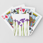 Purple irises isolated on a white background bicycle playing cards