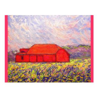 purple irises postcard