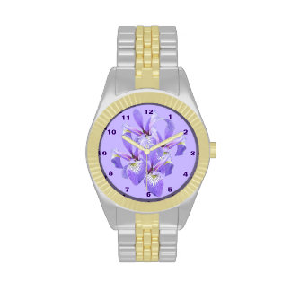 Purple Irises Two-tone Watch