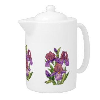 Purple Irises Watercolor