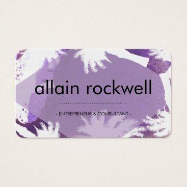Beach Themed Purple Island Business Card