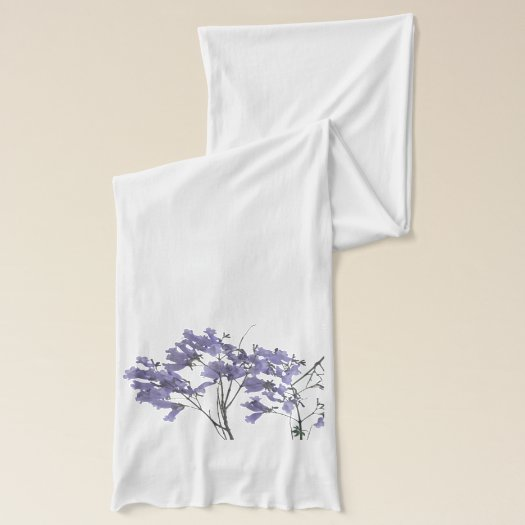 Purple Jacaranda Flowers Scarf