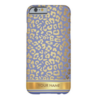 Purple Jaguar Leopard Skin Blue Gold Glam Barely There iPhone 6 Case
