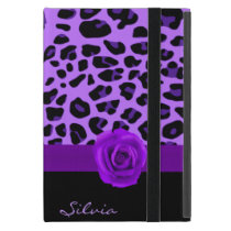 Purple Jaguar Print iPad Mini Case with Stand