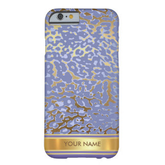 Purple Jaguar Skin Blue Gold Glam Barely There iPhone 6 Case