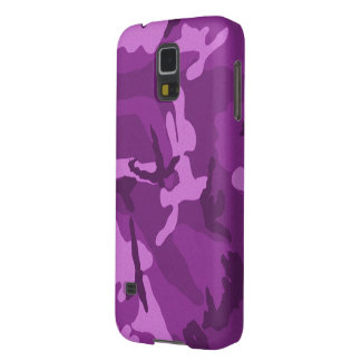 Purple Jam Camouflage Case For Galaxy S5
