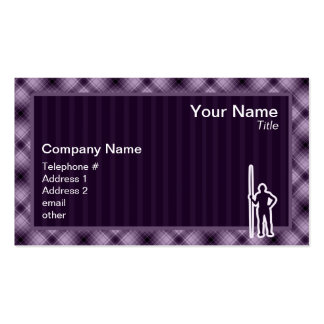 Purple Javelin Throw Double-Sided Standard Business Cards (Pack Of 100)
