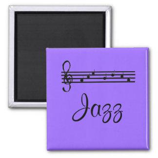 Purple Jazz 2 Inch Square Magnet