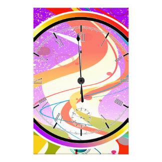Purple Jazz Midnight Clock Stationery