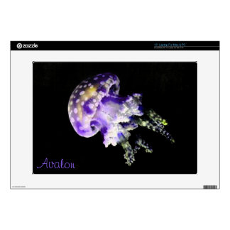 Purple Jellyfish Laptop Skin