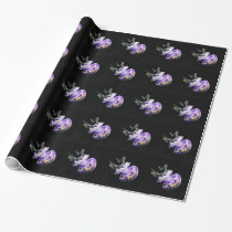 Purple Jellyfish Wrapping Paper