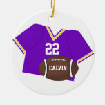 Purple Jersey and Football Ornament