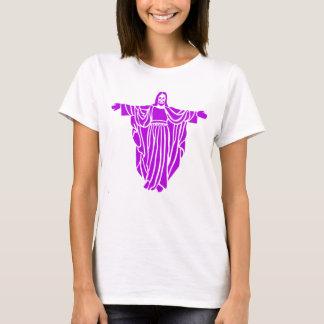 Purple Jesus Airbrush Art Tee