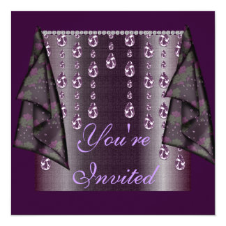 Purple Jewel Multi Purpose Invitation