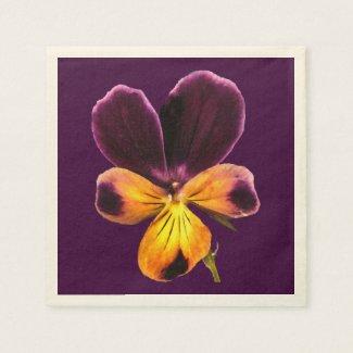 Purple Johnny Jump Up Flowers Paper Napkins
