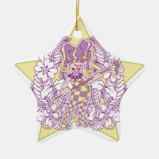 Purple Joker Ornament
