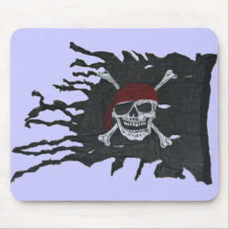 Purple Jolly Roger Mouse Pad