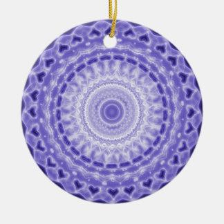 Purple Joy Mandala Kaleidoscope Pattern Ceramic Ornament