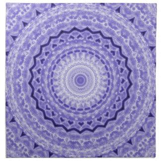 Purple Joy Mandala Kaleidoscope Pattern Cloth Napkin