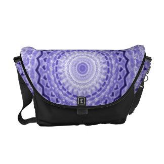 Purple Joy Mandala Kaleidoscope Pattern Courier Bag