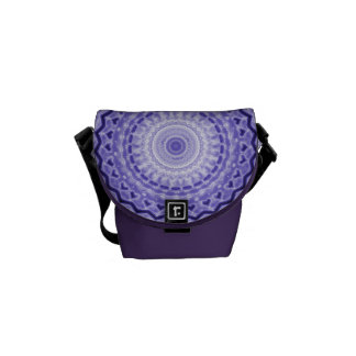 Purple Joy Mandala Kaleidoscope Pattern Messenger Bag