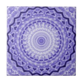 Purple Joy Mandala Kaleidoscope Pattern Tile