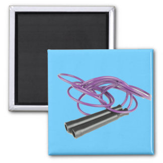 Purple Jump Rope 2 Inch Square Magnet