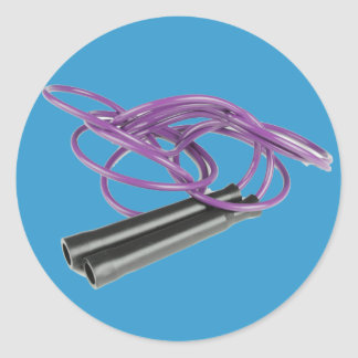 Purple Jump Rope Classic Round Sticker
