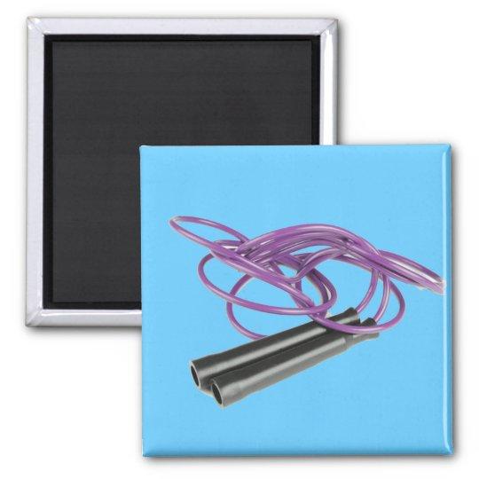 Purple Jump Rope Magnet