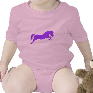 Purple Jumping Pony Baby Bodysuit