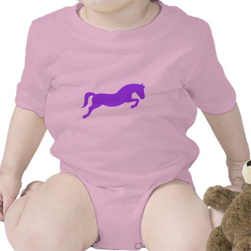 Purple Jumping Pony Baby Bodysuits