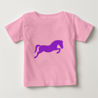 Purple Jumping Pony Baby T-Shirt